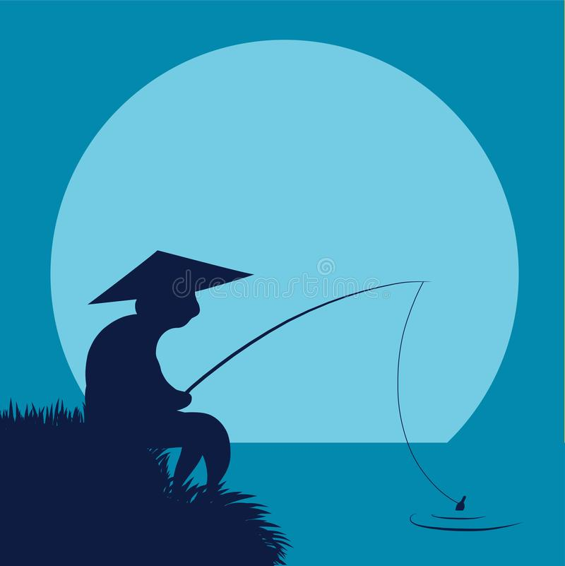 Un pescador chino libre illustration