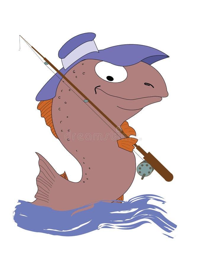 Un pescatore del pesce immagine stock libera da diritti