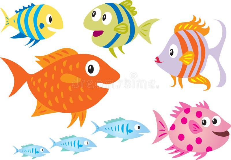 Un pesce di otto fumetti illustrazione vettoriale