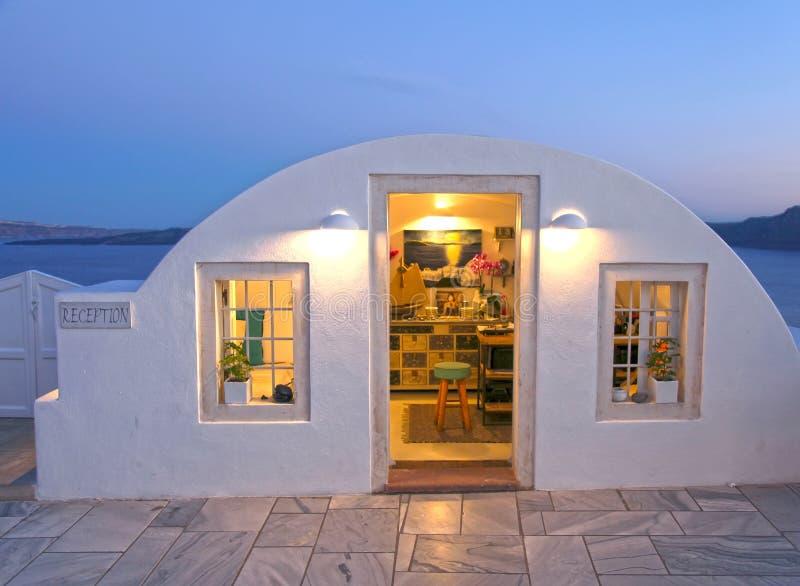 Un petit bâtiment dans Santorini, Grèce photographie stock libre de droits