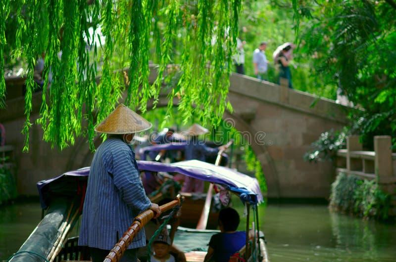 Un petit bateau en Chine photographie stock libre de droits