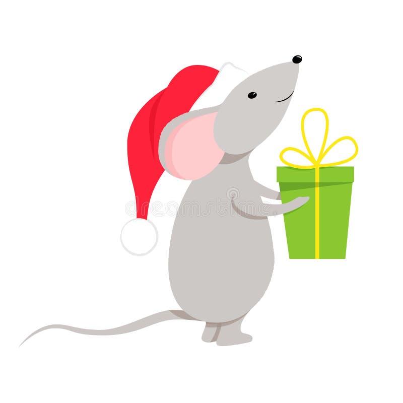 Un petit caractère de souris ou de rat illustration de vecteur