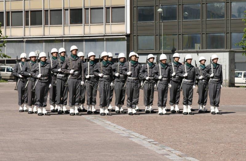 Un petit défilé militaire à Helsinki, Finlande photo libre de droits