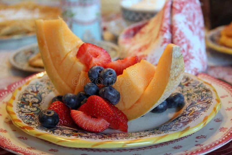 Un petit-déjeuner stimulant pour les voyageurs affamés, Blueberry Brooke B&B, Deansboro, New York, 2019 photographie stock
