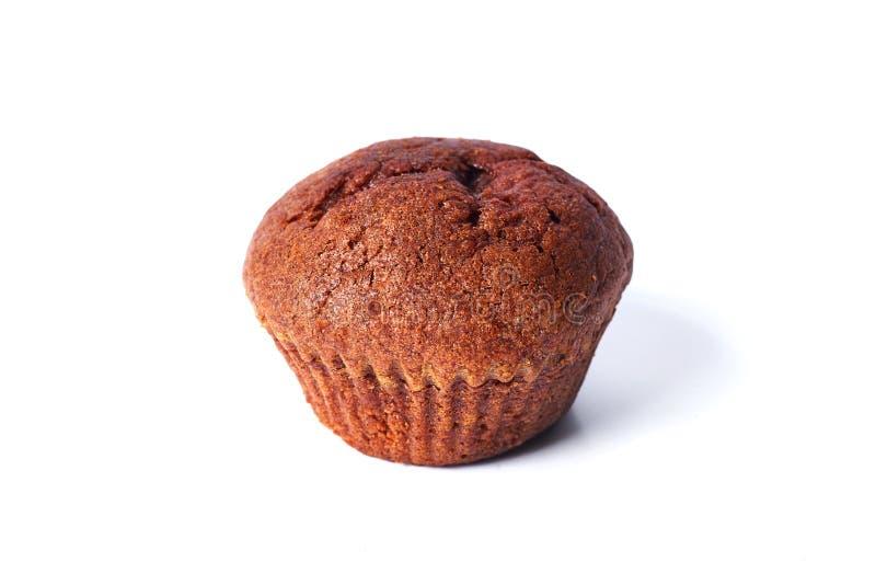 Un petit pain foncé de la pâte de chocolat sur d'isolement sur le fond blanc photographie stock libre de droits