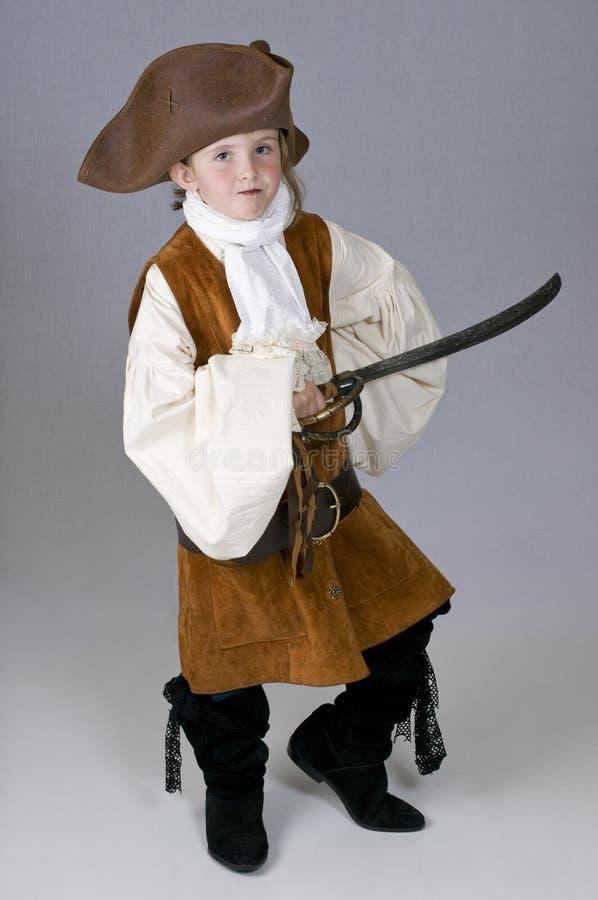 Un petit pirate de fille photo stock