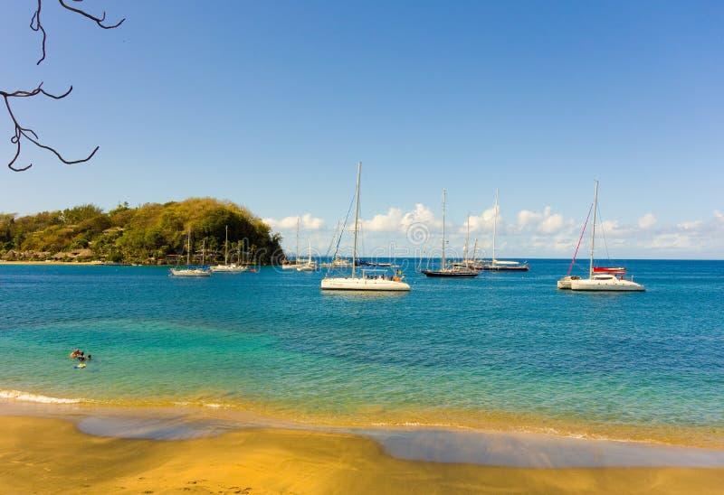 Un petit, privé hôtel de tourisme dans les Caraïbe photographie stock