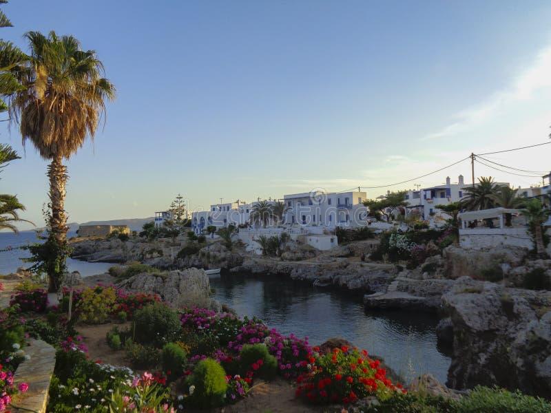 un petit village en Grèce à l'été images libres de droits