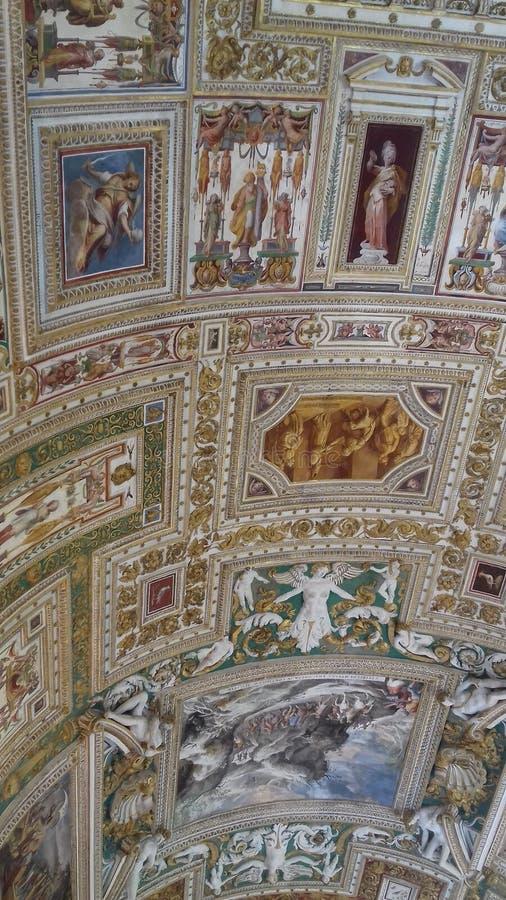 Un pezzo del sigillamento nel museo del Vaticano fotografia stock libera da diritti