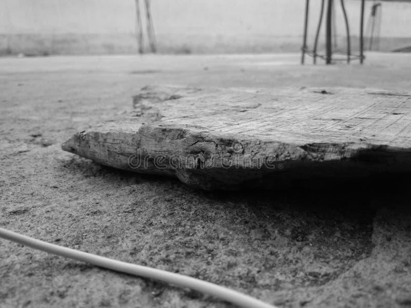 Un pezzo di legno immagine stock