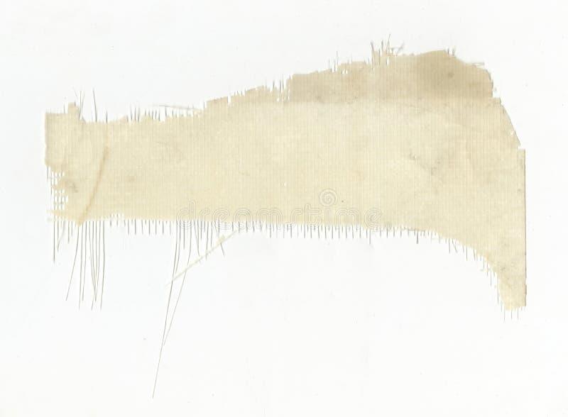 Un pezzo di tessuto tecnico sintetico isolato su fondo bianco fotografia stock libera da diritti
