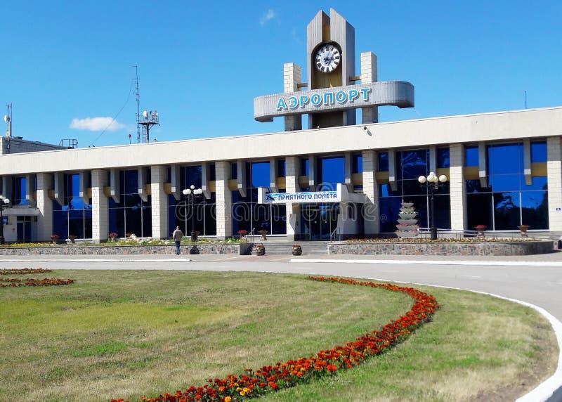 Un piccolo airoport nella città di Lipeck Russia fotografia stock