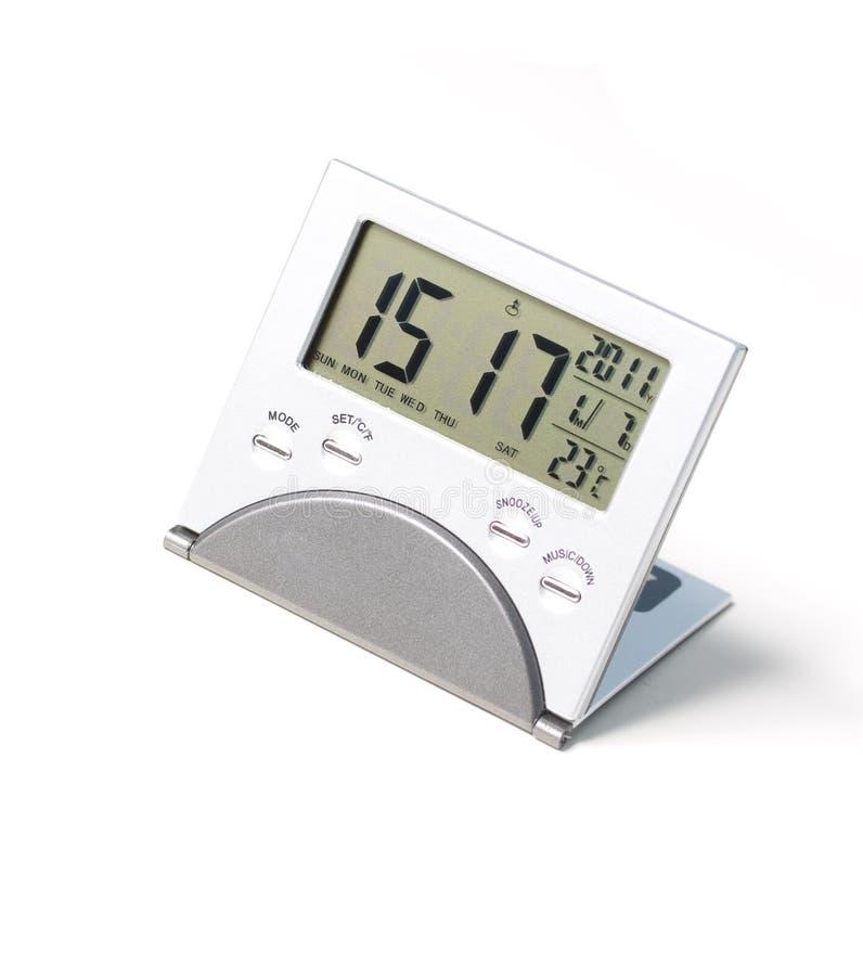 Un piccolo orologio digitale fotografia stock