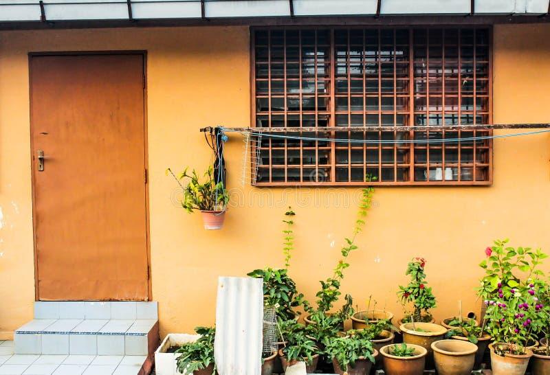 Un piccolo paesaggio della cucina fotografia stock