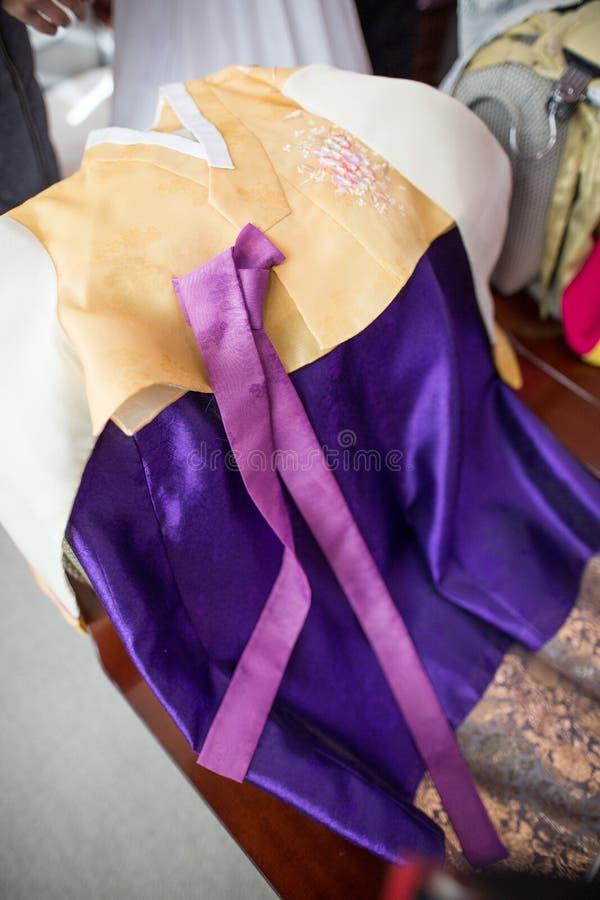 Un picturee di un vestito tradizionale coreano fotografia stock