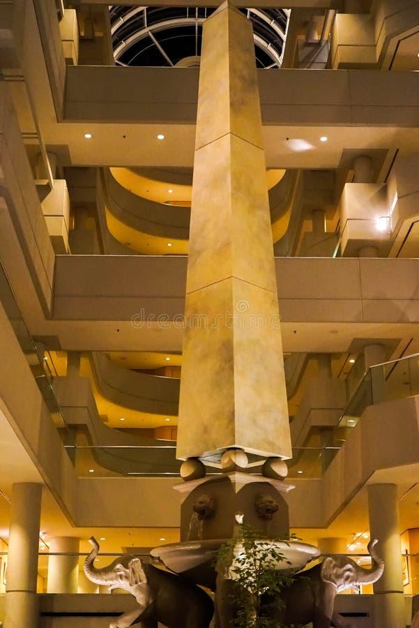 Un pilar en el hotel de Hyatt imagenes de archivo