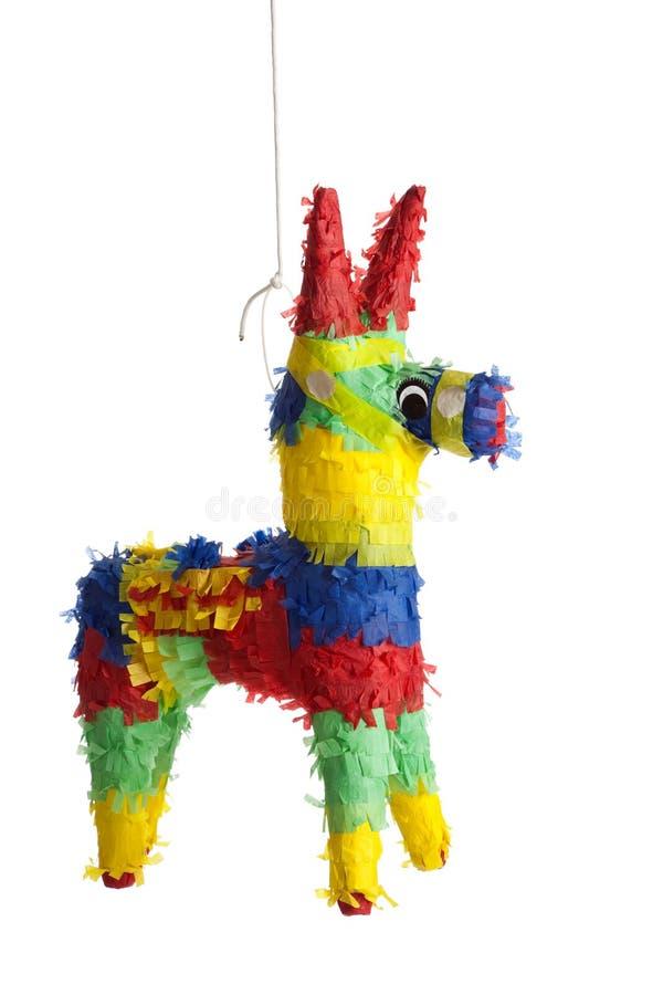 Un Pinata mexicain traditionnel sur le blanc photo libre de droits