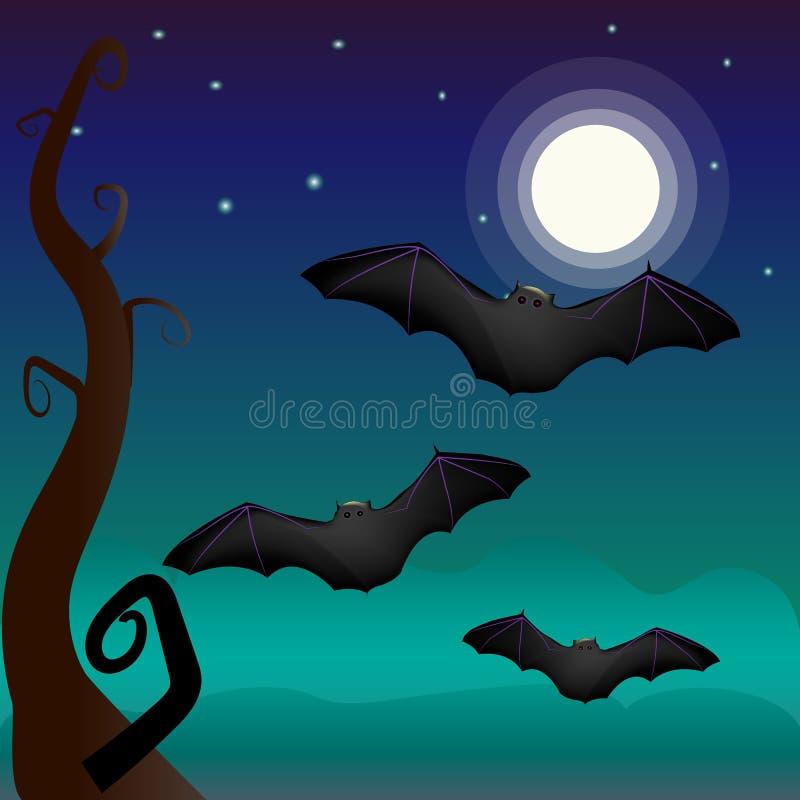 Un pipistrello sotto royalty illustrazione gratis