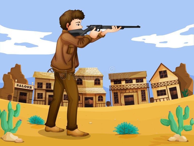 Un pistolero en la vecindad libre illustration