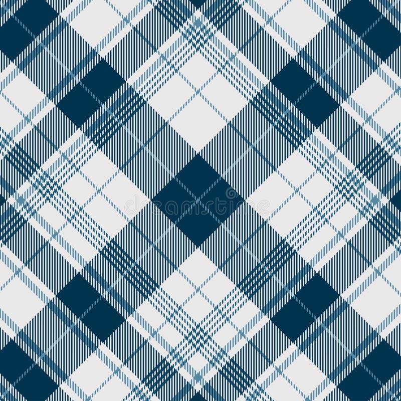 Un plaid diagonal sans couture - tuile au modèle ou à la taille désiré illustration libre de droits