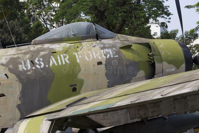 Un plan de l'Armée de l'Air d'USA au musée de restes de guerre image libre de droits