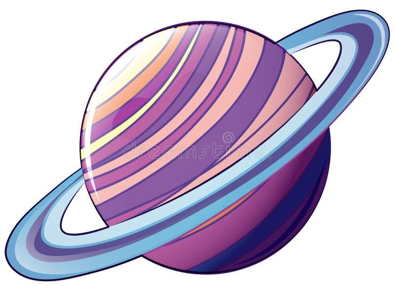 Un planeta con una órbita ilustración del vector