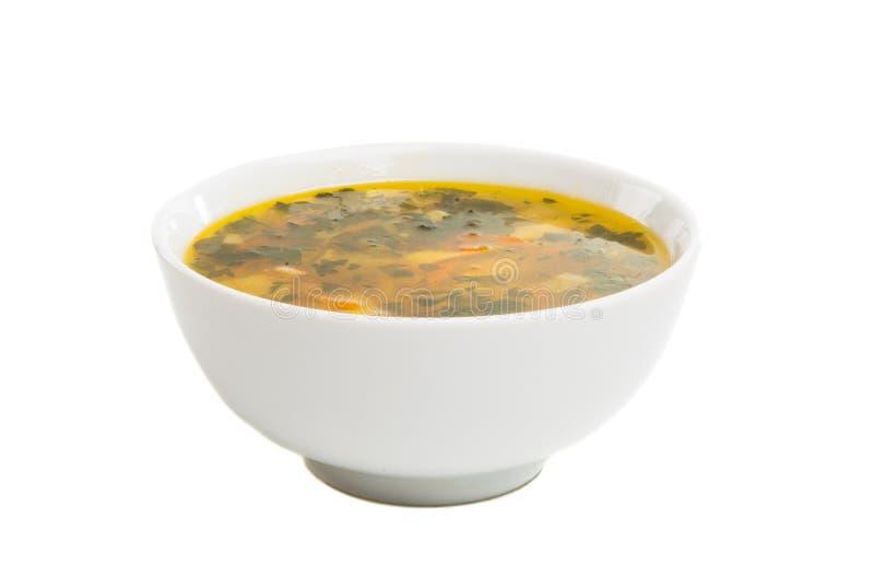 un plat de soupe d'isolement photographie stock libre de droits