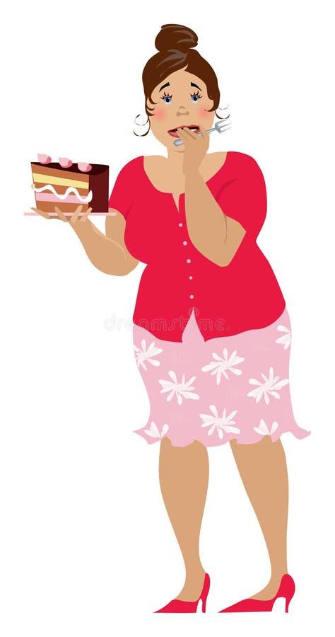 Un plus gâteau illustration libre de droits