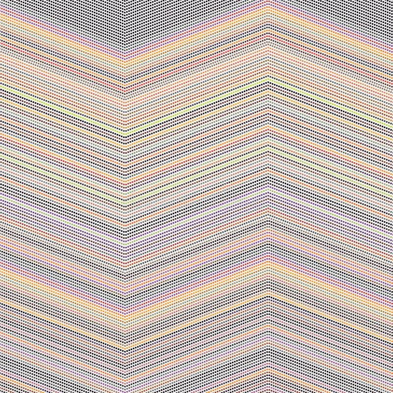 Un poco quadrato Dots Mesh Lines Background Pattern Texture di zigzag della banda variopinta di spettro illustrazione di stock