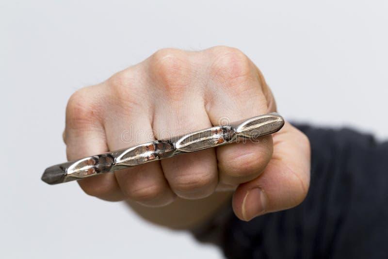 Un poinçon avec les articulations en laiton photos libres de droits