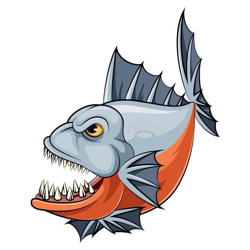 Un poisson de piranha de bande dessinée illustration stock