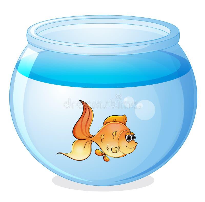 Un poisson et une cuvette illustration de vecteur