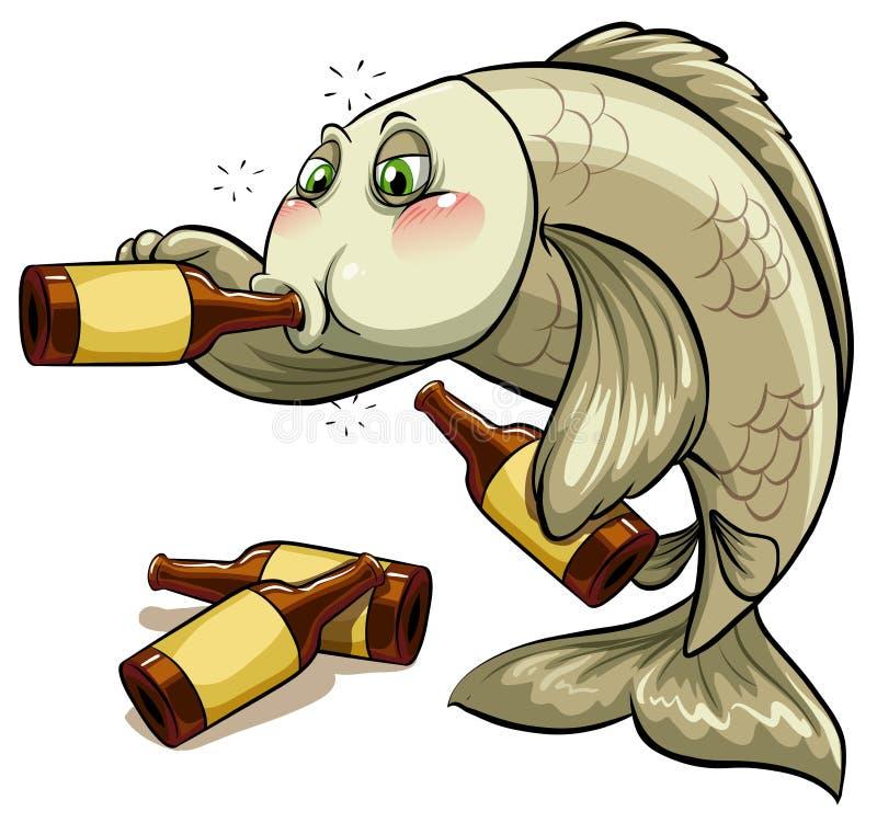 Un poisson ivre illustration stock