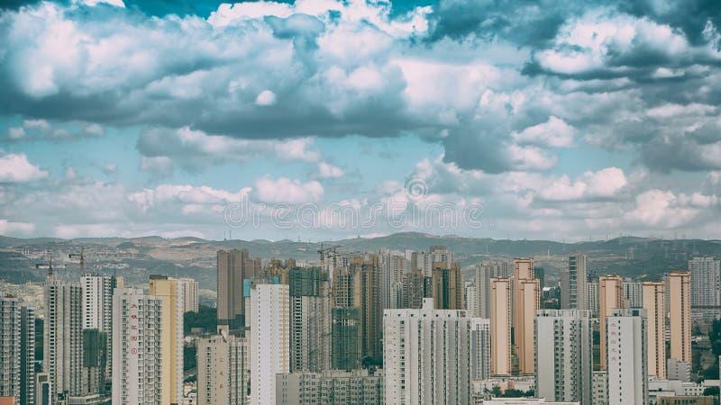 Un pomeriggio nuvoloso della città di Taiyan fotografia stock libera da diritti