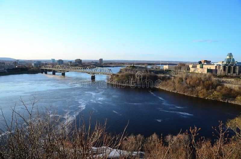 Un pont à Ottawa photo stock