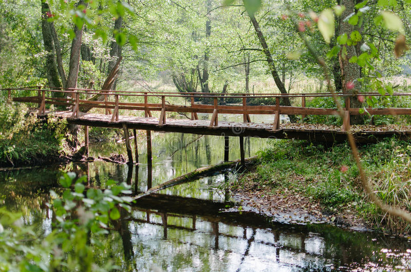 Un pont par la rivière photo libre de droits