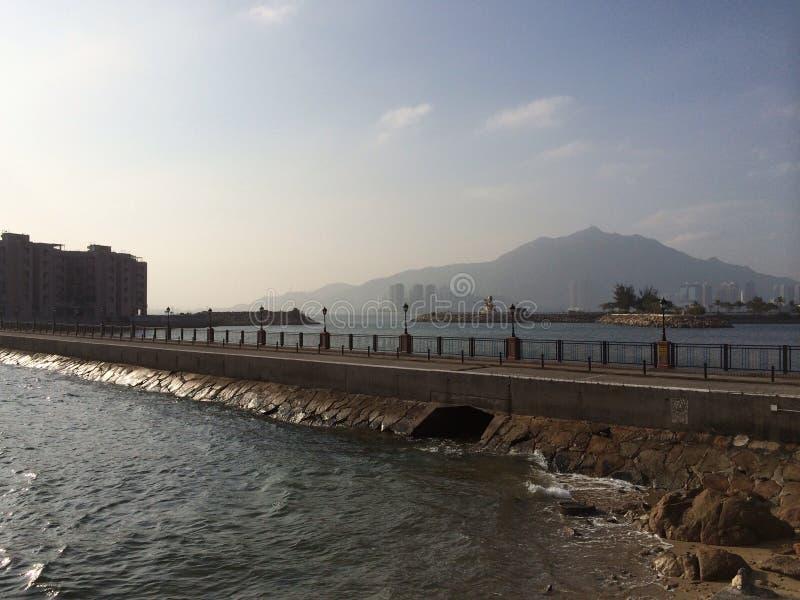 Un pont pour perler l'île et le x28 ; Hong Kong et x29 ; photos stock