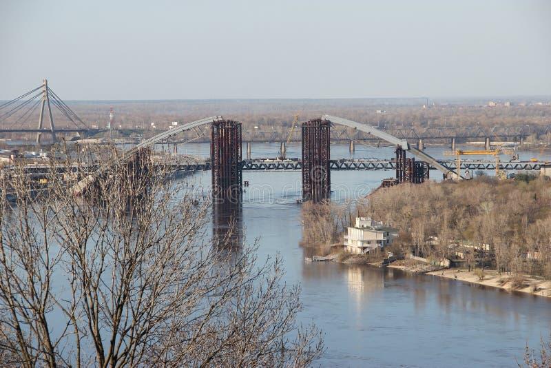 Un ponte in costruzione immagini stock libere da diritti