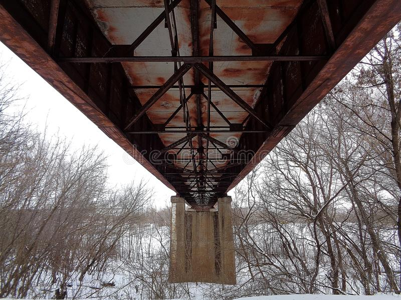 Un ponte a partire dal passato fotografia stock