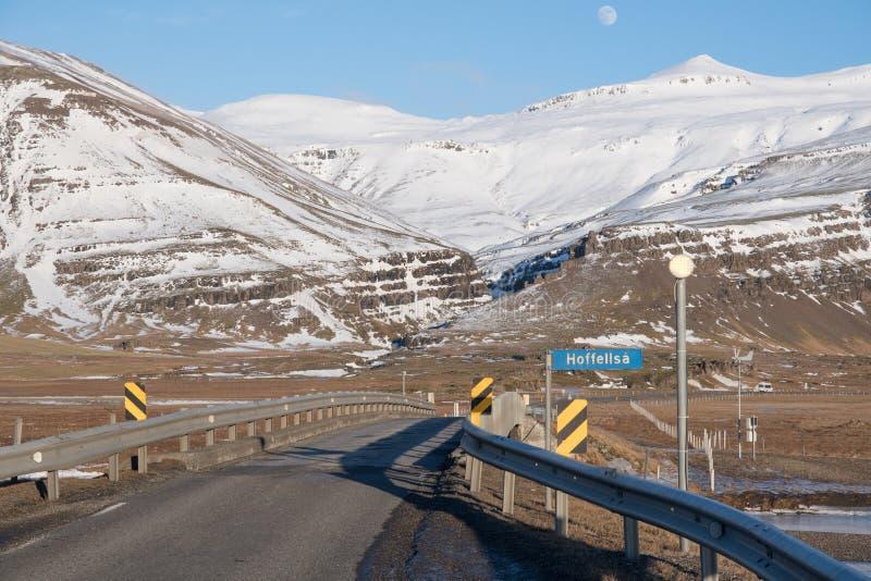 Un ponte a senso unico in Islanda immagini stock libere da diritti