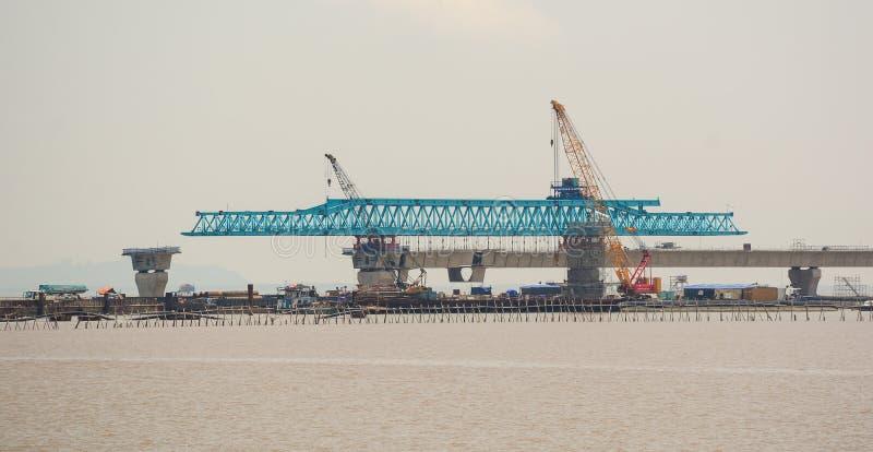 Un ponte sta costruendo in Hai Phong immagini stock