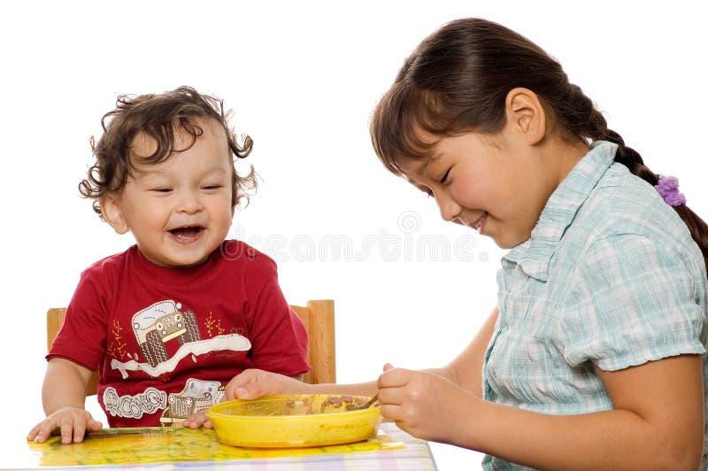Un porridge saporito. immagini stock