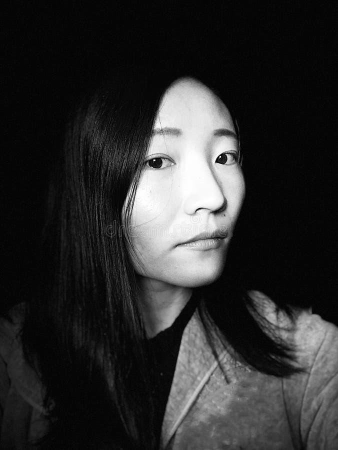 Un portrait asiatique de femme photos stock