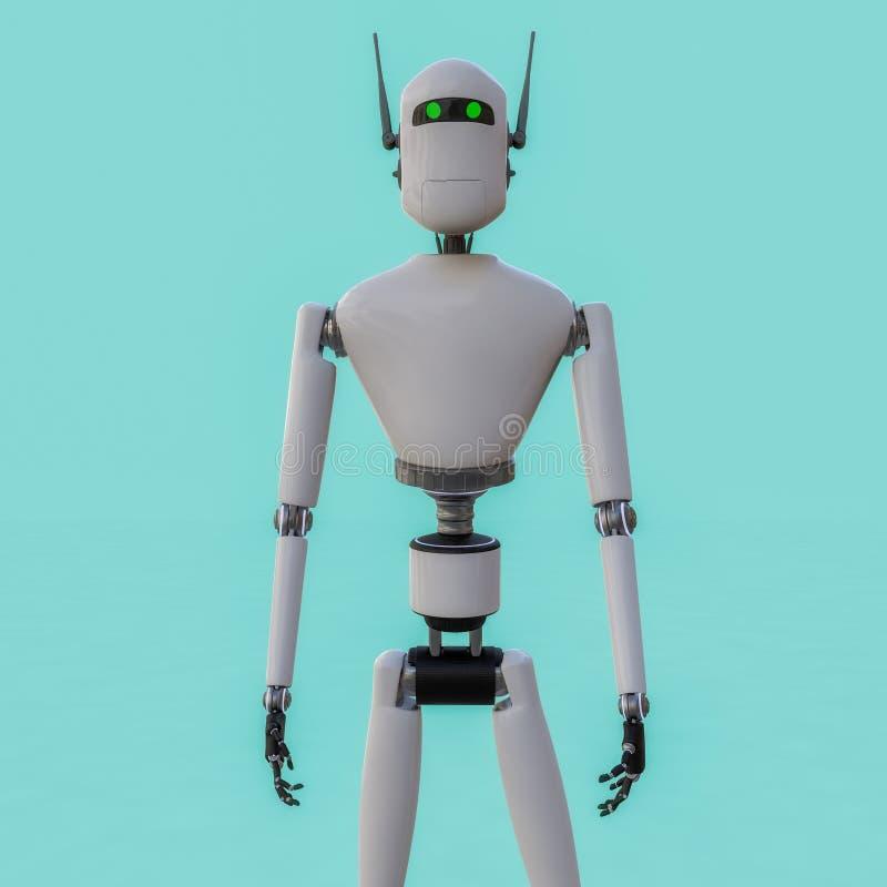 Un portrait d'un robot illustration stock