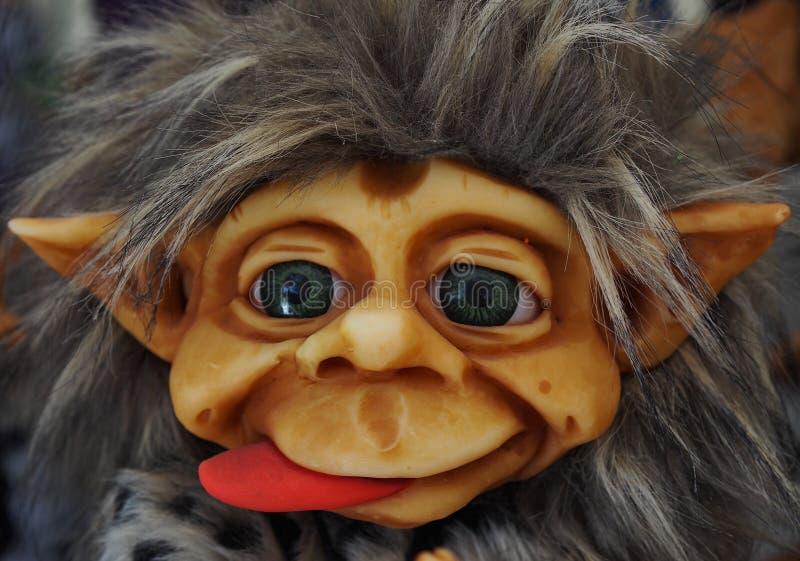 Un portrait de peu troll scandinave mignon images libres de droits