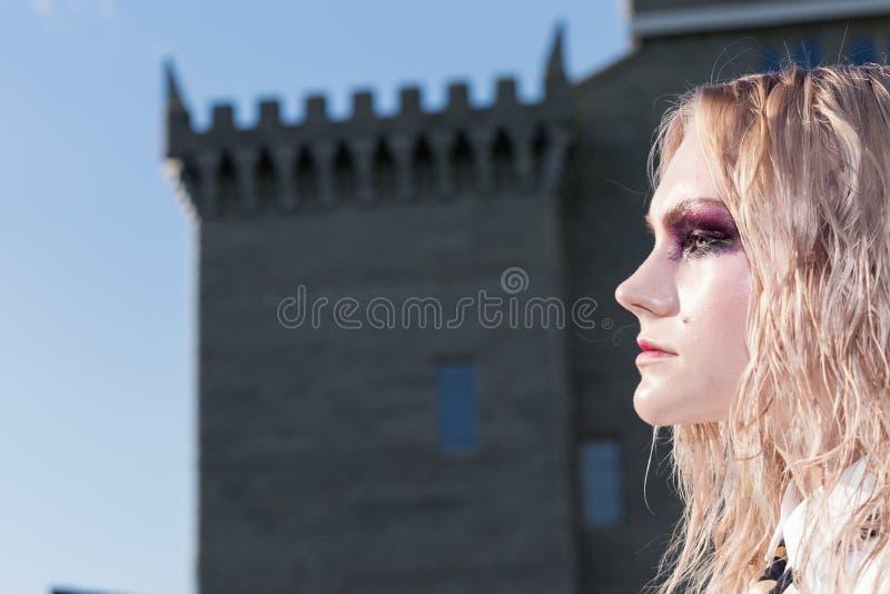 Download Un Portrait Gothique De Style De Mode D'une Belle Fille Blonde Image stock - Image du adulte, visage: 77151653