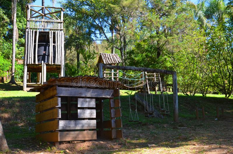 Un posto per la hacienda locale di rilassamento, accanto alla città Ribeirao Preto, regione Minas Gerais fotografia stock