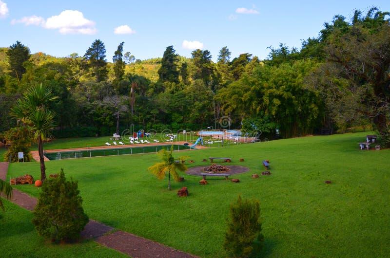 Un posto per la hacienda locale di rilassamento, accanto alla città Ribeirao Preto, regione Minas Gerais fotografia stock libera da diritti