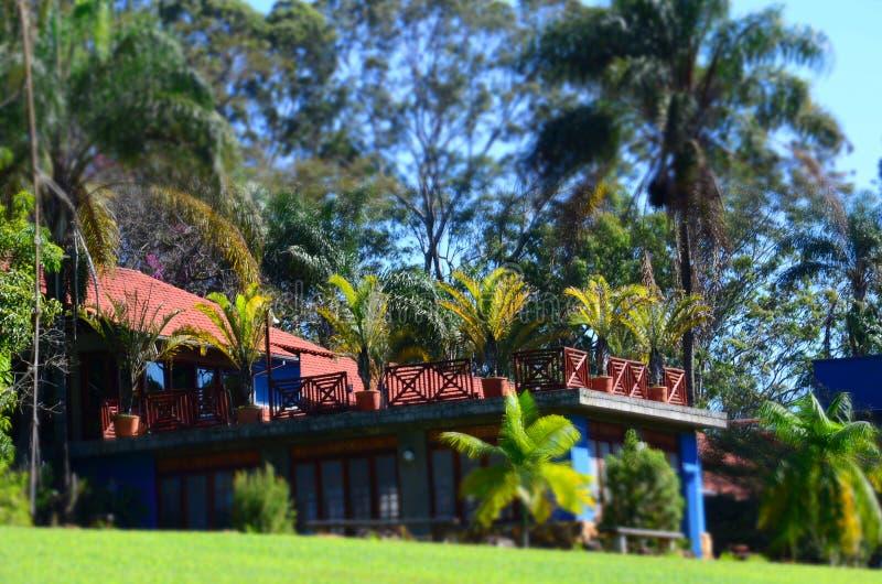 Un posto per la hacienda locale di rilassamento, accanto alla città Ribeirao Preto, regione Minas Gerais fotografie stock