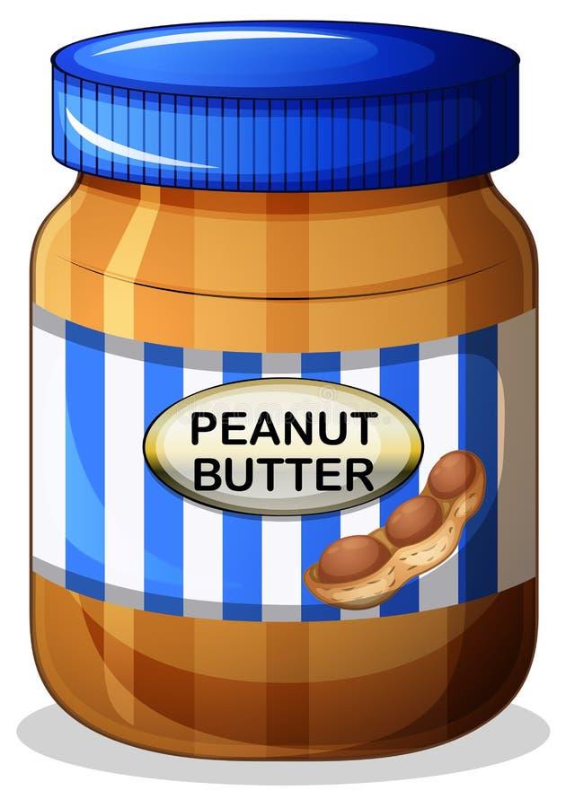 Un pot de beurre d'arachide illustration de vecteur